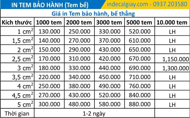 in tem bao hanh